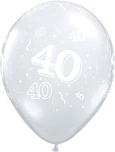 40 - Nummer - doorzichtig - latex ballon - 11 Inch. / 27,5 cm