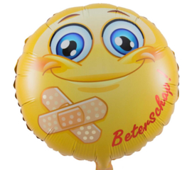 Beterschap Emoticon - folie ballon - 18 inch/45 cm