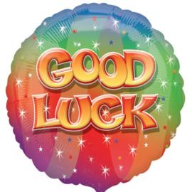 Good Luck - div.  kleuren - Folie Ballon - 17 Inch/ 43 cm