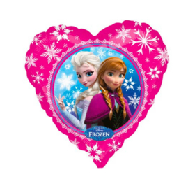 Disney - Frozen - Anna / Elsa - Fuchsia - Hart Folie Ballon - 17Inch/43cm