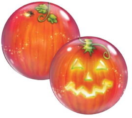 Pompoen -Smile- Halloween -  Bubbles Ballon - 22 Inch / 56 cm.