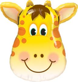 Giraffe - Vrolijk - XXL Folie Ballon - Geel/Bruin - 32Inch/81 cm