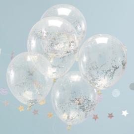 DIY :Holografische Glitter Confetti Doorzichtige Latex Ballonnen 5 st.