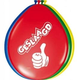 Geslaagd - groen / geel / blauw / rood - Latex Ballonnen - 8st.