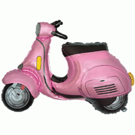 Scooter Roze - SWEET 16 - XL Folie Ballon. -24 inch / 60 cm.