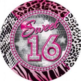 Folie Ballon - 16 - Sweet 16 - 18 Inch/45cm