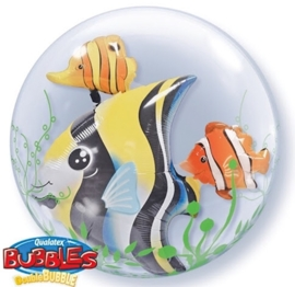 Bubble Ballon - Tropische vissen - dubbele ballon-24inch/61cm.
