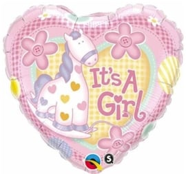 It's a Girl - Giraf - Folie hart ballon - 18Inch/45cm