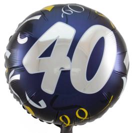 40- Zilver / Goud folie ballon - 18 Inch/45cm