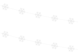 Slinger - Garland sneeuwvlok - winterslinger - wit - 1.80 m - ballonplus