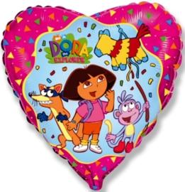 Dora - Hart - Folie Ballon - 18 Inch/45cm