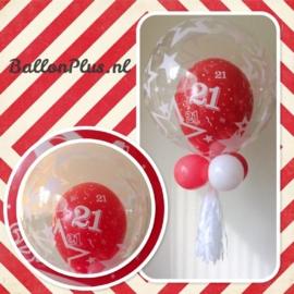 21 - nummer -  div. kleuren - latex ballon - 11 inch/27,5cm