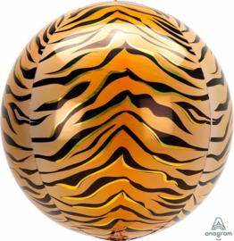 Tiger Print - Ronde Folie Ballon - Orbz - 15 x 16 Inch / 38x40 cm
