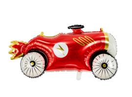 Rood met gouden Race Auto - Folie ballon - 36.5x19 Inch/93x48cm