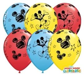 Disney Mickey Mouse - Latex ballonnen - 11 inch - 6 st.