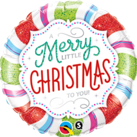 Merry little Christmas to You - Folie ballon - 18Inch/45cm
