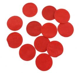 Confetti - Rood - Papier- 2 cm / 15 gr.