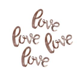 Confetti -  Love - Rose Goud - Papier- 4x5cm- 14gr.
