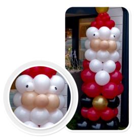 Kerstman - Ballonnen Pilaar - Uniek