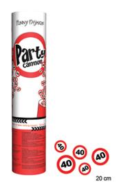 Party Popper - Confetti Shooter - 40 - Verkeersbord - 20 cm