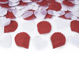 Rozen blaadjes en Hartjes Confetti Shooter/Kanon - Rood/Wit - 30 cm