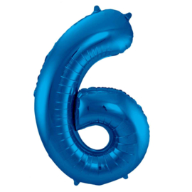 Cijfer - 1, 2, 3, 4, 5, 6, 7, 8, 9, 0, - Blauw - XXL Folie Ballon - Nummer - 34inch./86cm
