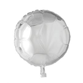 Rond - Zilver - Folie Ballon - 18 Inch/ 46cm