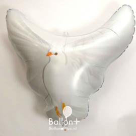 Duif - Wit - XL Folie Ballon - 29x28 Inch / 73x72cm