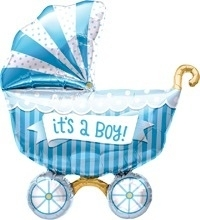 It's a boy! - Kinderwagen - Folie Ballon - 14 Inch/ 36cm