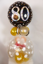 Cadeau - Kado Ballon - 80 -  Hartelijk Gefeliciteerd - Folie Top ballon
