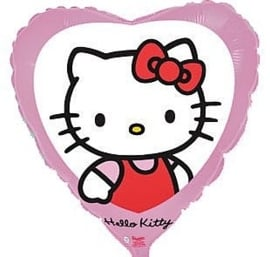 Hello Kitty -Roze - Hart Folie Ballon - 18 Inch/45cm