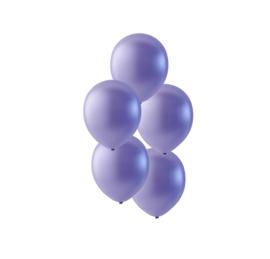 Lavendel paars ballonnen om te vullen met helium - Metallic - glans ballonnen  - 30 cm - 5stk