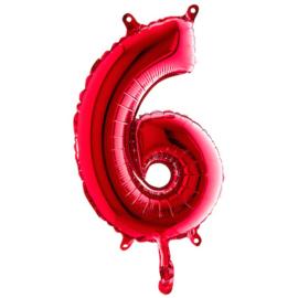 Cijfer ballon rood kleur klein