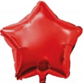 Ster - Rood - Folie Ballon -  18 inch/ 45cm