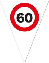 60 - Verkeersbord - Vlaggenlijn - 5m