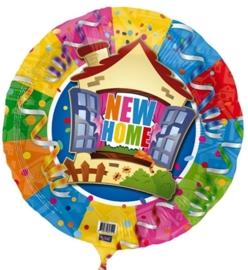 New Home - div. Kleuren - Folie Ballon - 18 Inch/45cm
