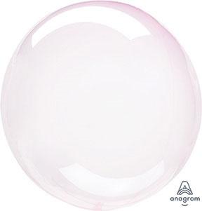 Doorzichtige Licht Roze Ballon - 18 inch/45 cm