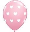 Hartjes - Rose - Latex ballon - 11 Inch /27,5cm  - 5 st