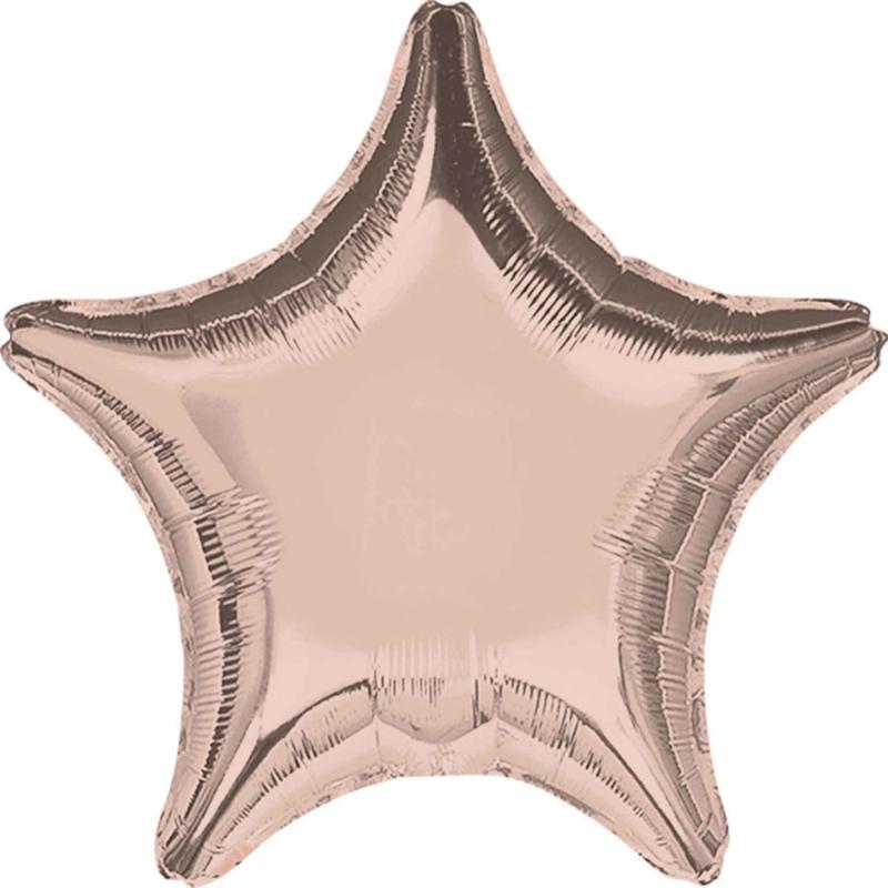 Ster - Rose Goud - Folie Ballon - 17 Inch/43cm