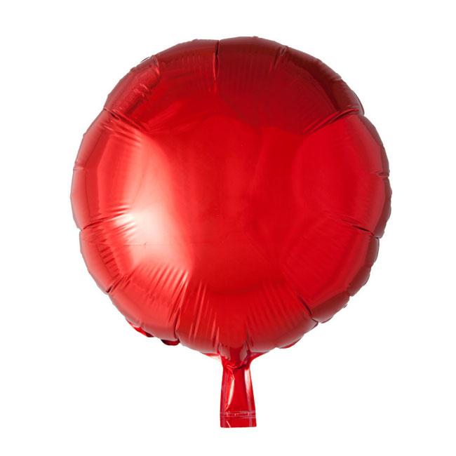 Rond - Rood - Folie Ballon - 18 Inch/ 46cm