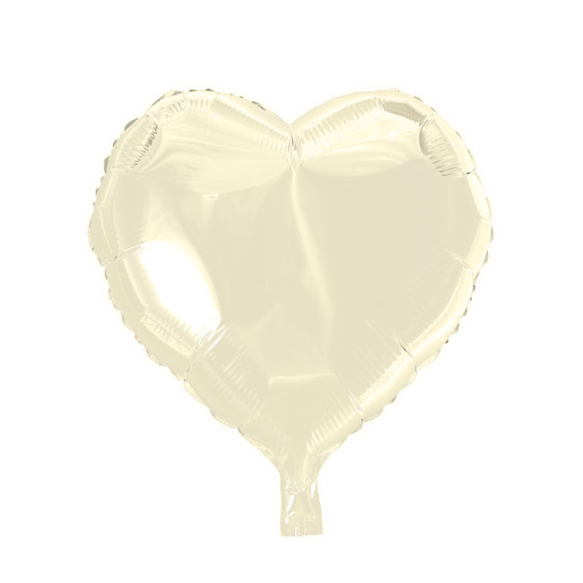 Hart - Ivoor - Folie Ballon - 18 Inch/46cm