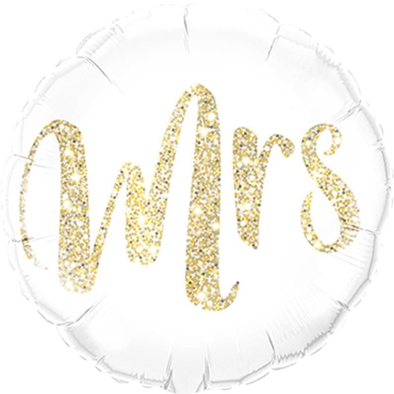 MRS - Folieballon- Goud Glitter - 18 Inch/46 cm