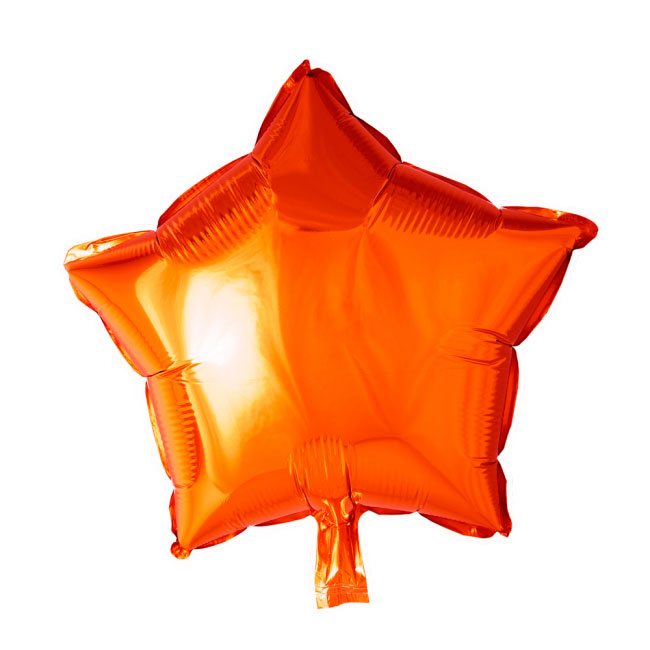 Ster - Oranje- Folie Ballon - 18 Inch/46 cm