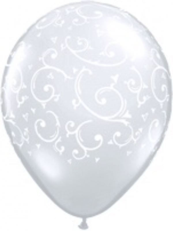 Filigree - Transparant - Latex Ballon - 11 Inch / 27,5cm