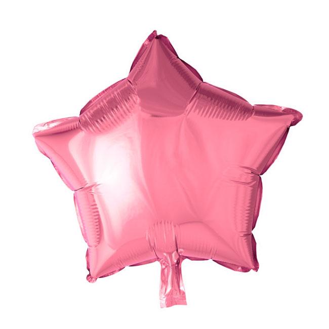 Ster - Roze - Folie Ballon - 18 Inch/46 cm