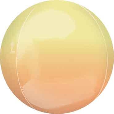 Geel / Oranje - Ronde Orbz Ballon -  15in/38cm