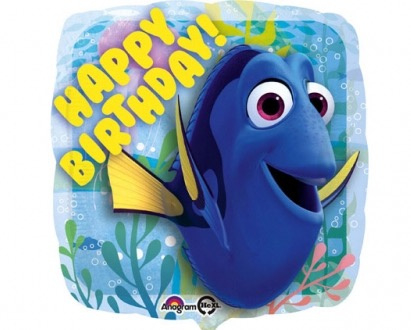 Finding Dory -  Happy Birthday - Folie  Ballon - 17Inch / 43 cm