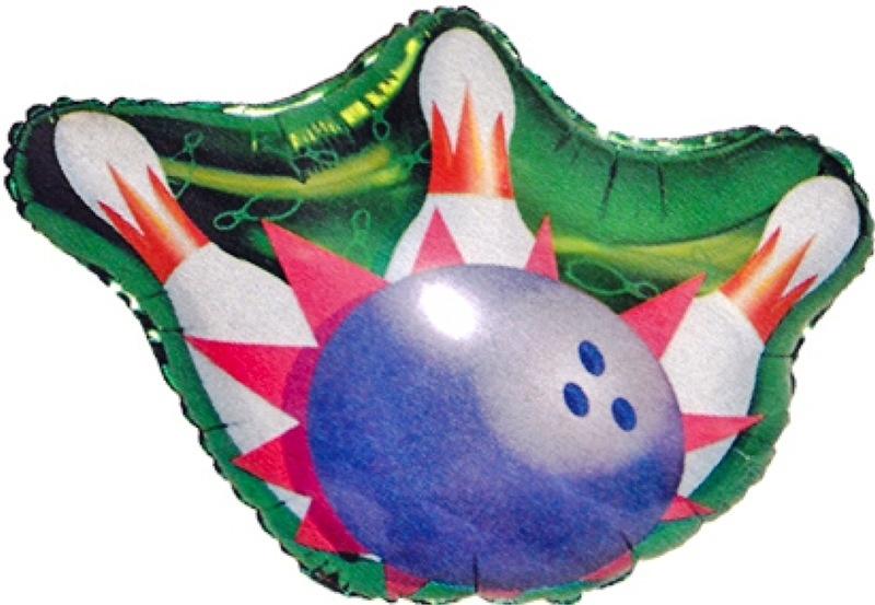 Bowling Bal met Kegels - XL Folie Ballon - 65cm X 50cm