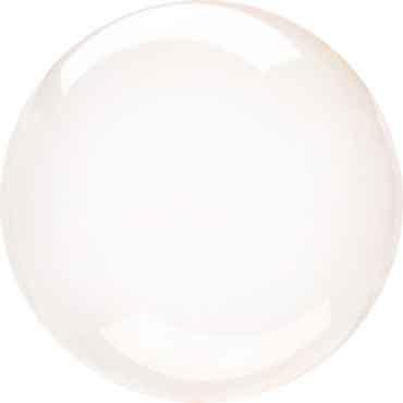 Orange Doorzichtige  Ballon - 18in/45cm