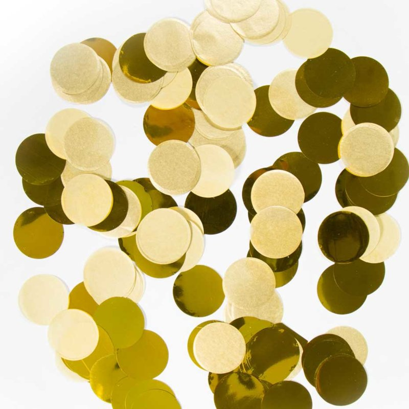 Confetti - Groot - Rond - Goud - 14 gr.